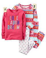 Пижама детская для девочки Carter's США, (размер: 2Т;3T;5Т;6;8;10):