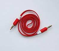 Плоский AUX кабель Red