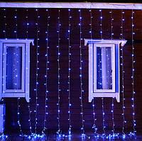 Светодиодная гирлянда 2м * 2м IP44 синяя ECOLEND