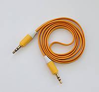 Плоский AUX кабель Yellow