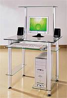 Стеклянный компьютерный стол , фото 1