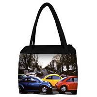 Женская сумка с принтом Цветный машины