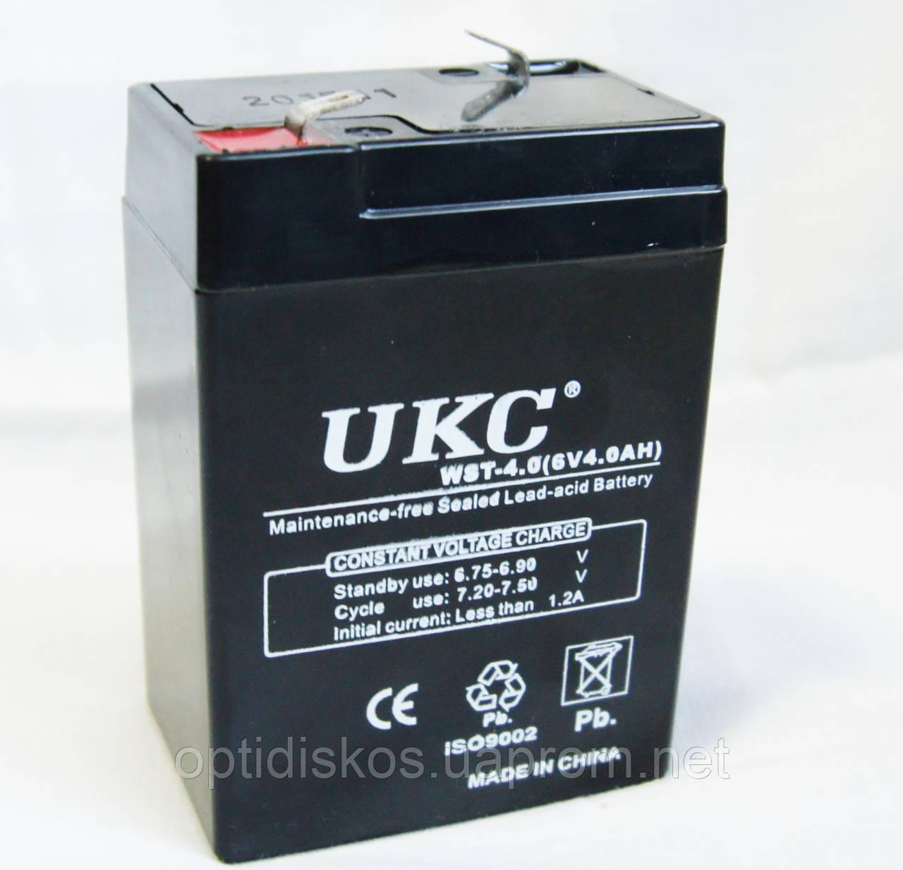 Аккумулятор UKC 6V 4Ah