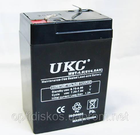 Аккумулятор UKC 6V 4Ah, фото 2