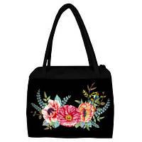 Женская сумка с принтом Букет цветов