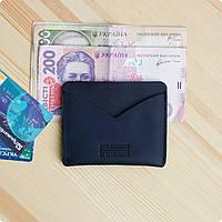 Кожаный кард-кейс для денег и карточек 5.0 (слим) Ночное небо