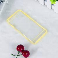 Чехол TPU+PC прозрачный с цветным ободком для iPhone 6/6S plus желтый