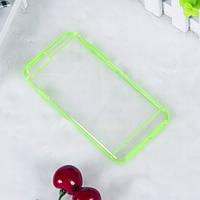 Чехол TPU+PC прозрачный с цветным ободком для iPhone 6/6S plus зеленый