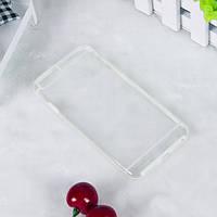 Чехол TPU+PC прозрачный с цветным ободком для iPhone 6/6S plus белый