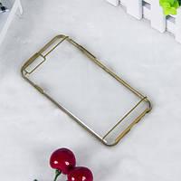 Чехол TPU+PC прозрачный с цветным ободком для iPhone 6/6S plus золотой