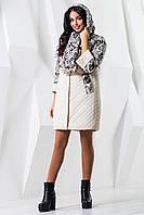 Стеганное демисезонно пальто для женщин 971  44–60р.в расцветках