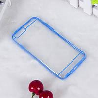 Чехол TPU+PC прозрачный с цветным ободком для iPhone 6/6S plus синий