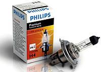 """Автомобильная галогенная лампа """"PHILIPS"""" (H4)(Premium)(+30%)"""