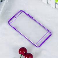 Чехол TPU+PC прозрачный с цветным ободком для iPhone 6/6S plus фиолетовый