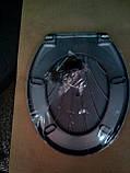 Кришка для унітазу Черепашка (сіра\металік), фото 2