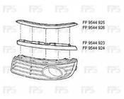Решетка радиатора для Volkswagen Transporter T5 '10- черная (FPS)