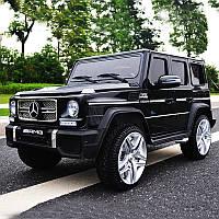 Детский электромобиль Mercedes G65 VIP: 90W, 2.4G, EVA-колеса, эко-кожа - черный металлик -купить оптом