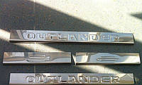 Хром накладки на Mitsubishi Outlander XL Накладки на пороги Нержавеющая сталь