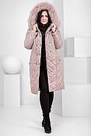 Пуховик - пальто зимнее женское с песцом