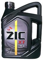 Моторное масло синтетика ZIC X7  5w40 4л.