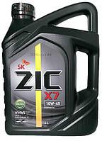 Моторное масло полусинтетика ZIC X7 Diesel 10w40 4л.