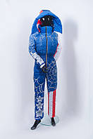 Комбинезон зимний лыжный с принтом