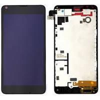 Дисплейный модуль Nokia Lumia 640 Экран + touch screen and frame черный
