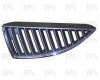 Решетка радиатора для Mitsubishi Lancer 9 '04-06 верхняя, правая хром. черная (FPS)