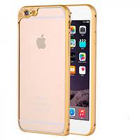 Алюминиевый бампер с защитой для камеры для iPhone 6/6S plus золотой, фото 1
