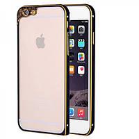Алюминиевый бампер с защитой для камеры для iPhone 6/6S plus черный