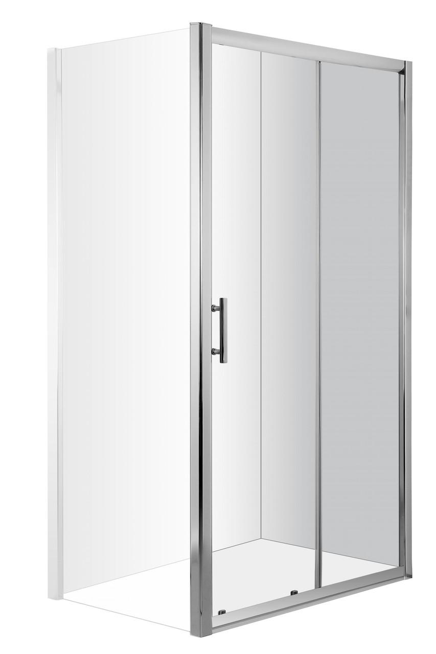 Душевые, раздвижные двери для ниши Deante CYNIA, стекло прозрачное, 120 см.