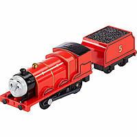 Fisher-Price Thomas The Train Томас и Друзья моторизированный паровозик Джеймс TrackMaster Motorized James