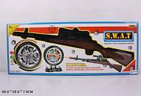 Ружье с поролон.снарядами батар. 581B очки, кегли, аксес., в коробке 60*25*8см