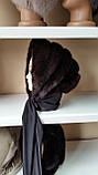 Женская норковая косынка цвет шоколад, фото 2