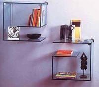 Клеенные стеклянные полки, фото 1