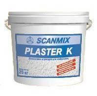 Фасадная декоративная штукатурка SCANMIX  PLASTERSIL  K   зерно 1,5 - 2,0 мм  25 кг силикон