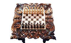 Шахматный стол резной, фото 2