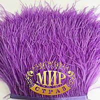 Перья страуса на ленте Цвет Lt Purple  Цена за 0.5м