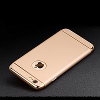 Чехол-накладка 3 в 1 для iPhone 6/6S plus золотой, фото 1