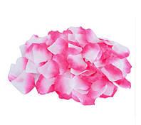 Лепестки роз Розово-белые декоративные 150 шт/уп