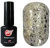 Гель-лак My Nail 9 мл №067 (прозрачный с большими, средними и мелкими бледно-золотистыми блестками)