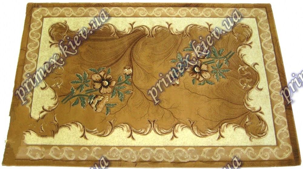 """Рельефный ковер Кадиллак """"Романия"""", цвет бежево-коричневый"""