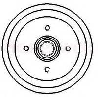 Барабан тормозной задний ABE C6G006ABE; OPTIMAL BT0210; LPR 7D0051; FORD 6086628, 1598117 на Форд Орион