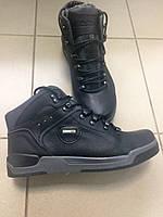 Мужские зимние кожаные ботинки в спортивном стиле