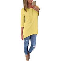 "Блуза ассиметрия жёлтая ""Патриот"""