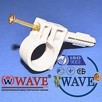 Обойма-хомут 18-20 с дюбелем и шурупом для крепления круглого провода(упаковка 50шт)