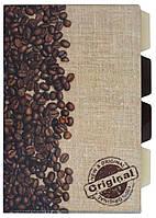 """Папка-уголок Leo """"Coffee break"""" 4отд. 490646"""
