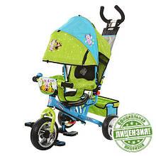Велосипед коляска трехколесный ЛунтиК колеса EVA Foam с родительской ручкой