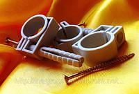 Обойма-хомут 25-27 с дюбелем и шурупом для крепления круглого провода(упаковка 25шт)