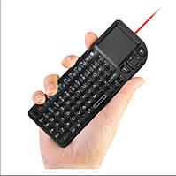 Клавиатура беспроводная (для Smart TV) Rii mini RT-MWK01, 2.4G, LED, тачпад, лазерная указка